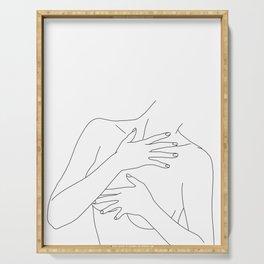Nude figure line drawing - Ellen Serving Tray