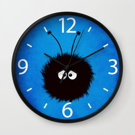 Blue Cute Dazzled Bug Wall Clock