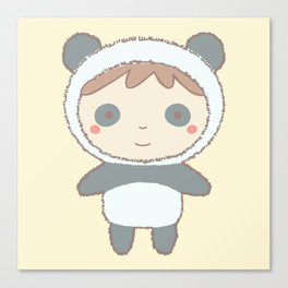 Cute Panda Kid Canvas Print