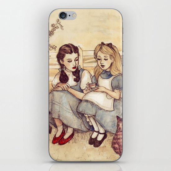 Dorothy and Alice iPhone & iPod Skin
