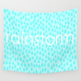 rainstorm Wall Tapestry