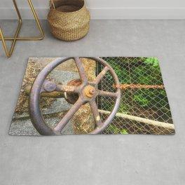 Metal Water Works Wheel Rug