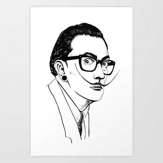 Hipster Dali Art Print