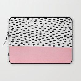 Pink Black Dalmation Polka Dots Laptop Sleeve