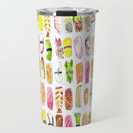Sushi Watercolor-- Nigiri Sushi Travel Mug