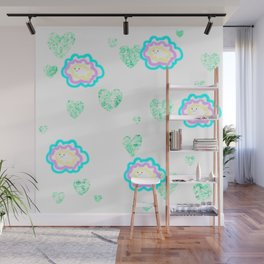 leaves and sparkle ~smile~ five Wall Mural