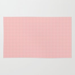 Blush Pink Two Tone Hounds Tooth Check Rug