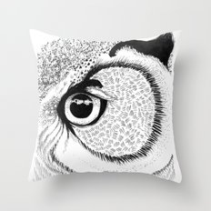 Owl Eye Throw Pillow