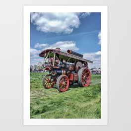 "Showmans Engine ""Lord Nelson"" Desatuated Art Print"