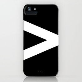 Greater-Than Sign (White & Black) iPhone Case
