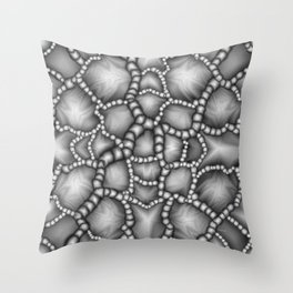 Chaotic Clusters Macro Abstract Throw Pillow