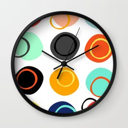 Color Drop Wall Clock