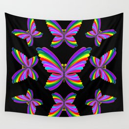 Butterfly Psychedelic Rainbow Wall Tapestry