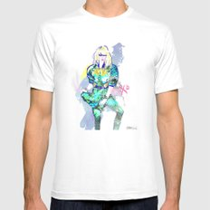 Hedda In Motion XO MEDIUM White Mens Fitted Tee
