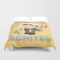 architect Duvet Covers featuring Architect by Alapapaju