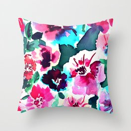 Zoe Floral Pink Throw Pillow