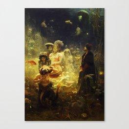 Sadko in the Underwater Kingdom by Ilya Repin Canvas Print