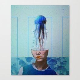Jellyfish blue. Canvas Print