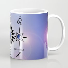 Zodiac Signs with The Moon The Sun and a Star Coffee Mug