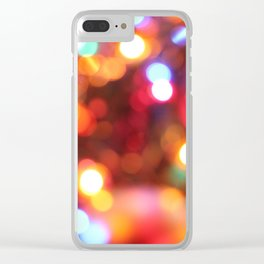 Pink and Yellow Lights Clear iPhone Case