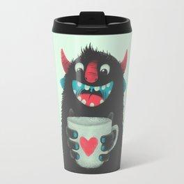 Demon with a cup of coffee Travel Mug