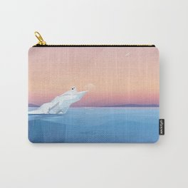 Harp seal on a melting iceberg in the arctic ocean under sunset Carry-All Pouch