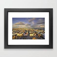 Vista of Reykjavik  Framed Art Print