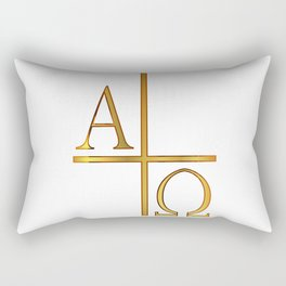Alpha Omega Golden Image Rectangular Pillow