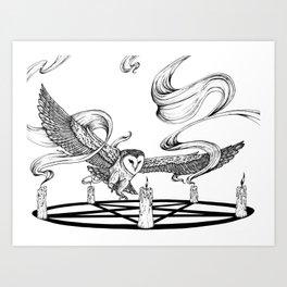 Mystic Owl Art Print