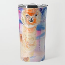 Puffy Dreams (alpaca and llama) Travel Mug