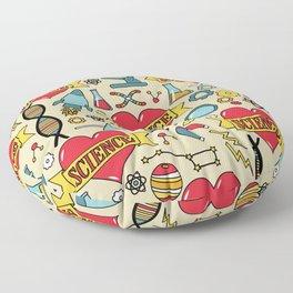 Scientific Tattoos Floor Pillow