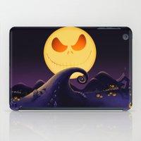 jack skellington iPad Cases featuring Starry Night Jack Skellington by ThreeBoys