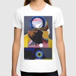 African American Masterpiece 'Midnight Golfer' abstract landscape painting by E.J.Martin T-shirt