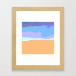 Sand dune desert sahara Framed Art Print