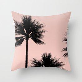 Midnight Palm Throw Pillow
