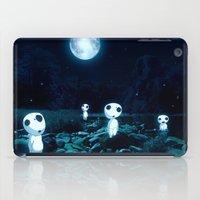 kodama iPad Cases featuring Princess Mononoke (Kodama) by pkarnold + The Cult Print Shop