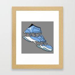 "11 "" LEGEND BLUE "" Framed Art Print"