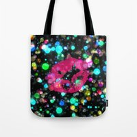 kiss Tote Bags featuring KISS by Yilan