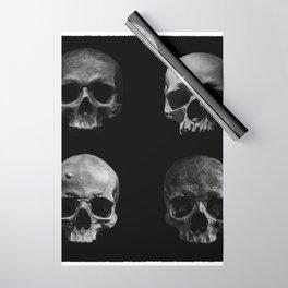 Skulls quartet BW Wrapping Paper