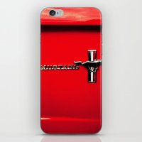 mustang iPhone & iPod Skins featuring Mustang by Catherine Doolan
