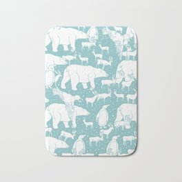 Polar gathering (peppermint) Bath Mat
