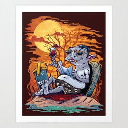 Vampire At The Beach  Art Print
