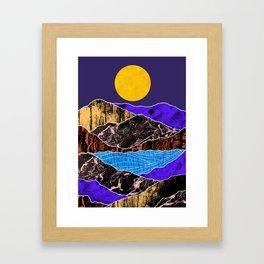Textured lands Framed Art Print