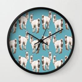 unicorn Llama - i am unique Wall Clock