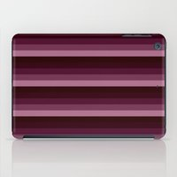 burgundy iPad Cases featuring Burgundy stripes by SimplyChic