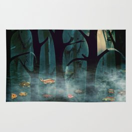 The Woods at Night Rug