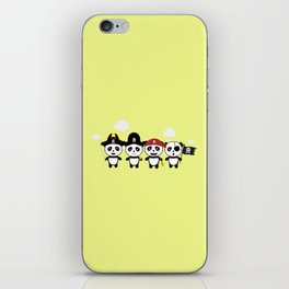 Panda Pirates Crew T-Shirt for all Ages Dt4v1 iPhone Skin