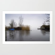 The silence of the Lake in wintertime Art Print