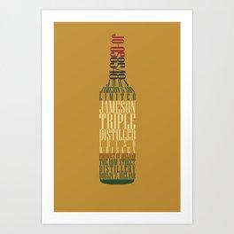 Typographical Jameson Art Print