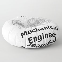 Yes, I'm a Mechanical Engineer Floor Pillow